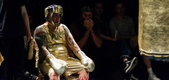 Franko B in 'Milk & Blood' – Art Ensemble festival, photo Sarah Hickson